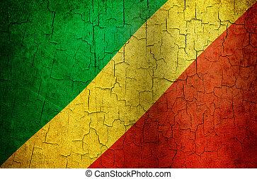 Grunge Republic of the Congo flag