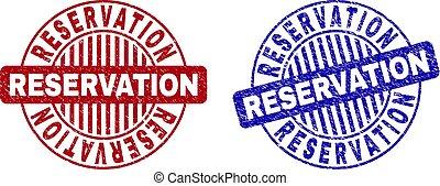 Grunge RESERVATION Textured Round Stamp Seals
