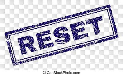 Grunge RESET Rectangle Stamp