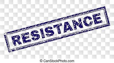 Grunge RESISTANCE Rectangle Stamp