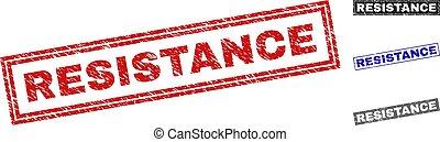 Grunge RESISTANCE Textured Rectangle Stamp Seals
