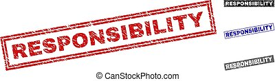 Grunge RESPONSIBILITY Textured Rectangle Watermarks