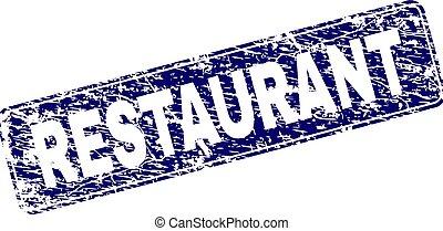 Grunge RESTAURANT Framed Rounded Rectangle Stamp
