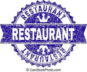 grunge, restaurant, timbre, textured, cachet, ruban