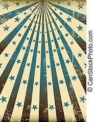 grunge retro blue sunbeams - A vintage and retro style blue...