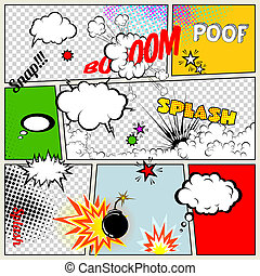 Grunge Retro Comic Speech Bubbles