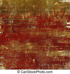 Grunge retro composition, textured vintage background. With different color patterns: yellow (beige); brown; green; red (orange); gray; pink