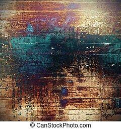 Grunge retro composition, textured vintage background. With different color patterns: yellow (beige); brown; black; blue; red (orange); purple (violet)