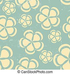 Grunge Retro flower pattern background seamless