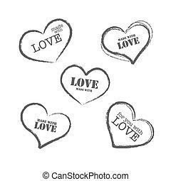 Grunge retro stamp made with love