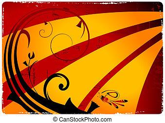 Grunge retro vector background
