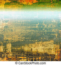 Grunge retro vintage texture, old background. With different color patterns: yellow (beige); brown; blue; green; red (orange)