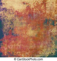 Grunge retro vintage textured background. With different color patterns: yellow (beige); brown; red (orange); purple (violet); green