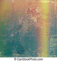 Grunge retro vintage textured background. With different color patterns: yellow (beige); green; blue; red (orange); purple (violet)