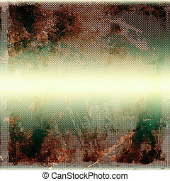 Grunge retro vintage textured background. With different color patterns: yellow (beige); brown; green; gray; white