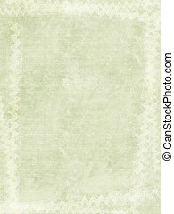 Grunge Ribbed Paper Background with White Chalk Border