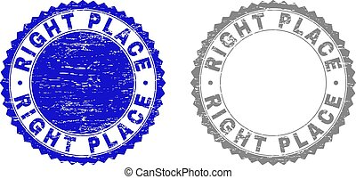 Grunge RIGHT PLACE Textured Stamp Seals - Grunge RIGHT PLACE...