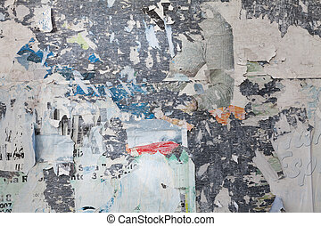 grunge ripped poster background - texture of torn...