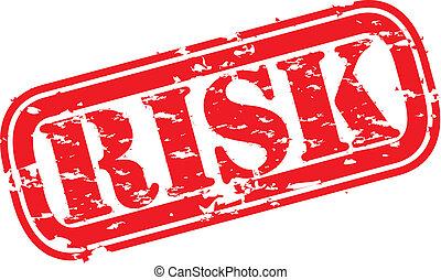 Grunge risk rubber stamp, vector illustration