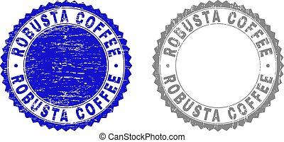 Grunge ROBUSTA COFFEE Scratched Watermarks - Grunge ROBUSTA...