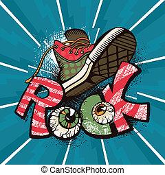 Grunge rock poster vector illustration