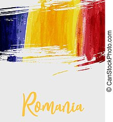 Grunge Romania flag background