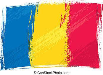 Grunge Romania flag - Romania national flag created in...