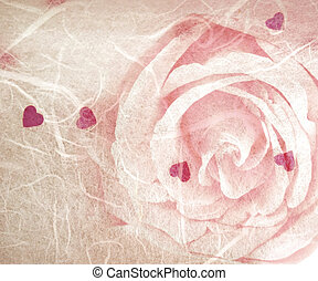 grunge romantic background rose