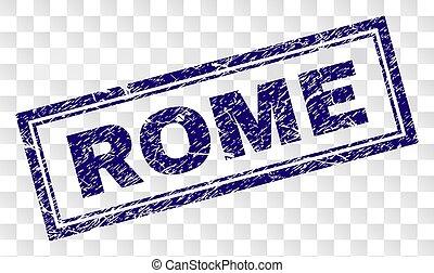 Grunge ROME Rectangle Stamp