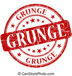 grunge, rood, postzegel