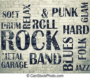 grunge, roomgrunge, roca, cartel