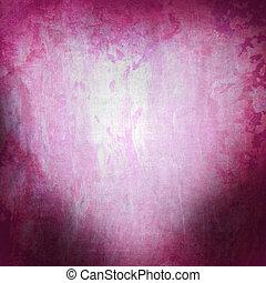 grunge, rooskleurige achtergrond, met, hart