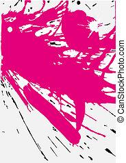 grunge, rosa, splats