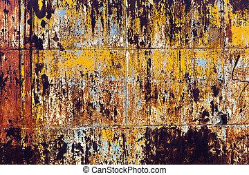 grunge, rostig metall, bakgrund