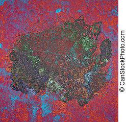Grunge & rough. Digital, wallpaper, effect & color.