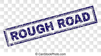 Grunge ROUGH ROAD Rectangle Stamp - ROUGH ROAD stamp seal...