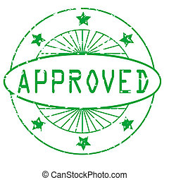 grunge round stamp - approved