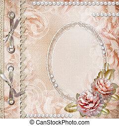 grunge, rozen, gedenkboek dek, mooi