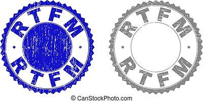 Grunge RTFM Textured Stamps