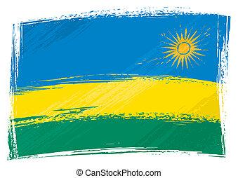 grunge, ruanda markierungsfahne
