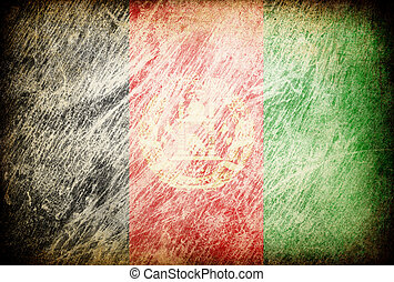 Grunge rubbed flag series of backgrounds. Afghanistan.