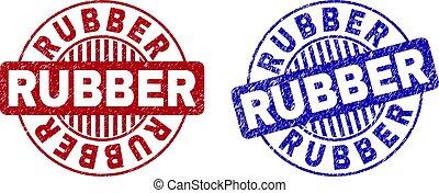 Grunge RUBBER Scratched Round Stamp Seals