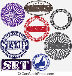 Grunge rubber stamp set, vector