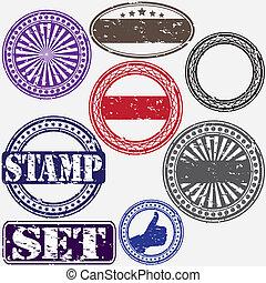 Grunge rubber stamp set, vector