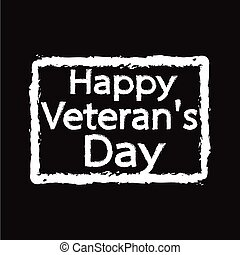 Grunge rubber stamp text happy Veteran Day Illustration design
