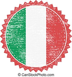 Grunge rubber stamp with Italy flag. Vintage travel stamp