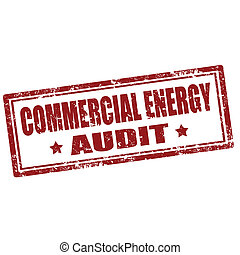 Grunge rubber stamp with text Commercial Energy Audit, vector illustration