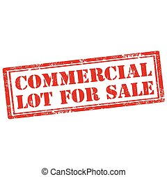 Commercial Lot For Sale - Grunge rubber stamp with text ...