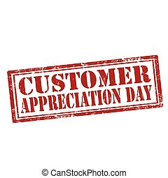 Customer Appreciation Day - Grunge rubber stamp with text...