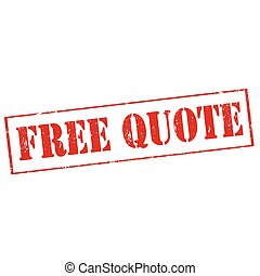 Free Quote - Grunge rubber stamp with text Free Quote,vector...